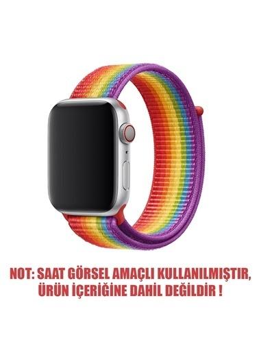 Jacobson Apple Watch Kordon Spor Loop 42-44 mm Kayış Gökkuşağı Renkli